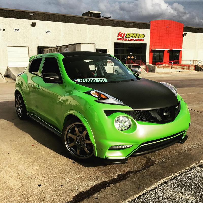 my 2015 juke nismo rs in pearl light green. Black Bedroom Furniture Sets. Home Design Ideas