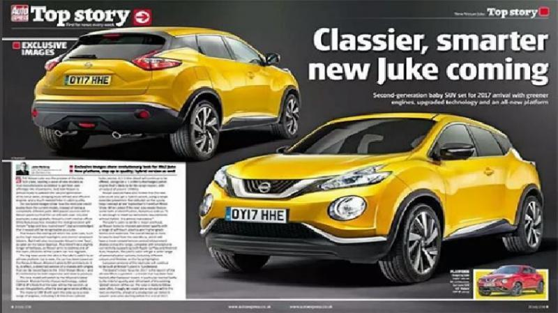2018 Production Nissan Juke Rendering Attachments