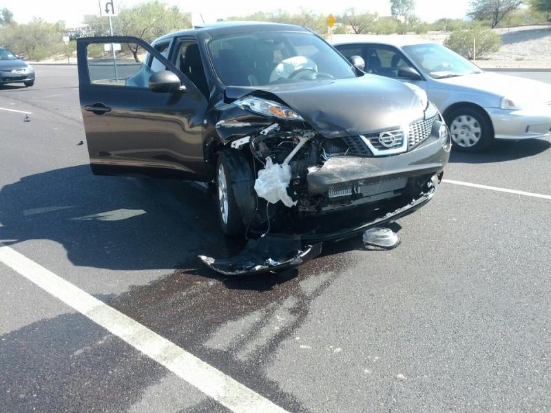 Nissan Juke Tire Size >> My Juke's first accident