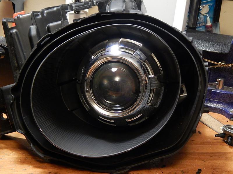 Projector Retrofit Installed Morimoto Mini H1 Apollo 3