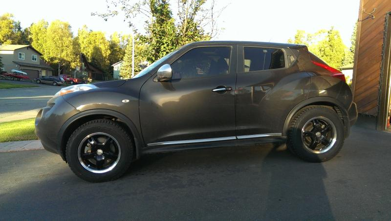 What is the largest size tire YOU have on your STOCK Juke ...