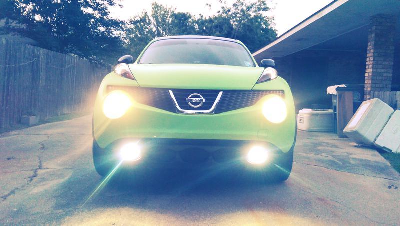 D Electric Lime Green Plasti Dip Imag on Green Led Headlight Tint