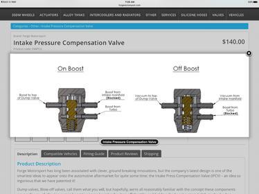 FORGE Intake Pressure Compensation Valve FMIPCV