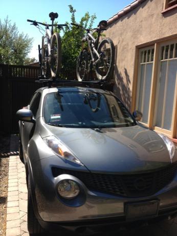 Custom Thule Roof Rack Bike Rack Install